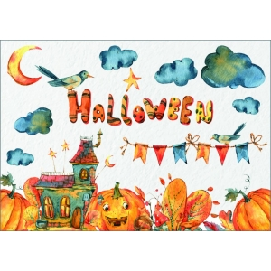 12275 Halloween in watercolor
