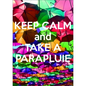 11958 Keep Calm and take a parapluie