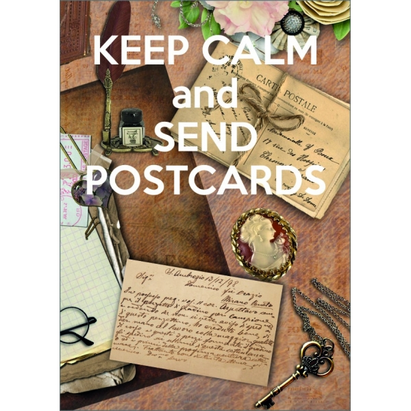 11961 Keep calm and send postcards