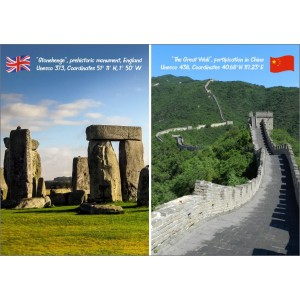 Landmarks: United Kingdom China - Stonehenge and Wall 11397