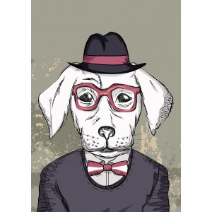 Dog with glasses 11114