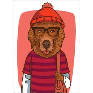 11115 Fashionable dog