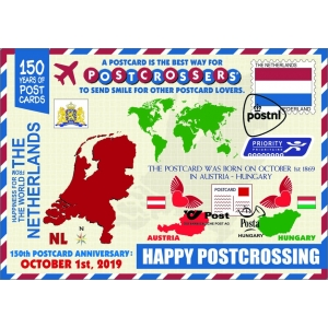 11976 MCPS 150 Years of Postcard-Netherlands