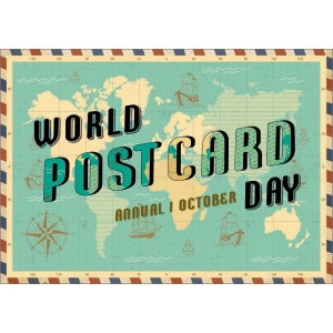 12264 World Postcard Day 1 Oct - vintage