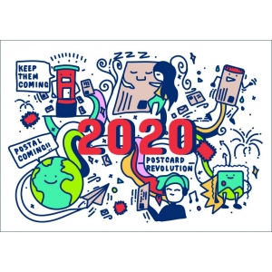 12292 World Postcard Day official card