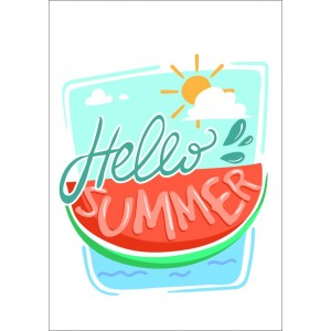 Hello Summer watermelon 11372