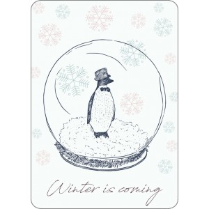 Pinguin in winter 11565