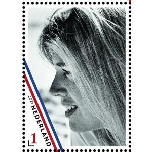 12421 Postzegel Koningin Maxima 50 jaar - 1 losse zegel